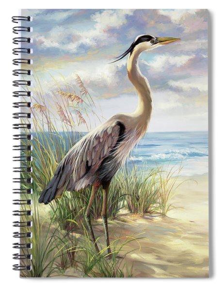 Blue Heron Right Spiral Notebook