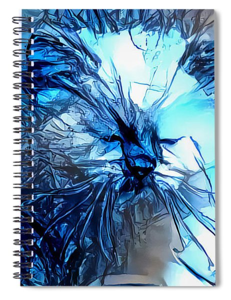 Blue Himmy Cat Spiral Notebook