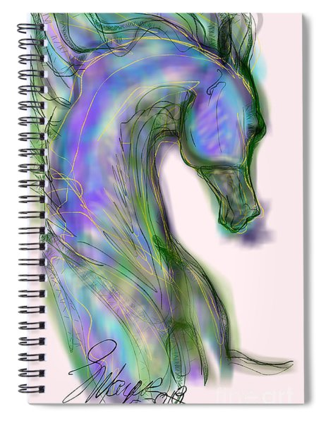 Blue Horse Painting Spiral Notebook