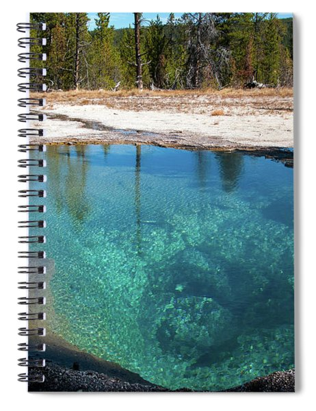 Blue Hot Spring Spiral Notebook
