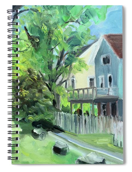 Blue House On A Spring Morning Spiral Notebook
