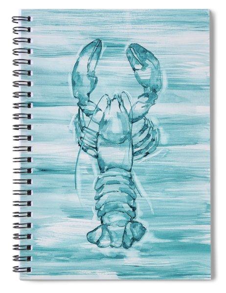 Blue Lobster Spiral Notebook