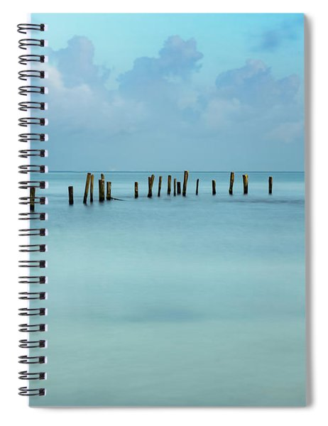 Blue Mayan Sea Spiral Notebook
