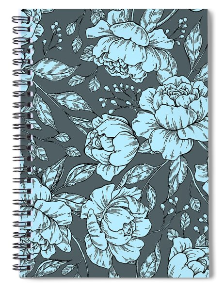 Blue Peonies Spiral Notebook