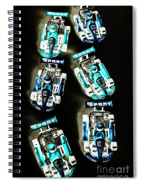 Blue Racers Spiral Notebook