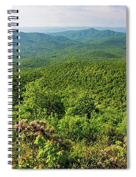 Blue Ridge Mountain Overlook Spiral Notebook