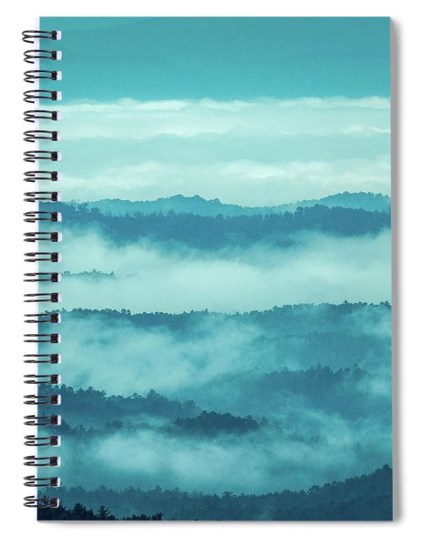 Blue Ridge Mountains Layers - Blue Ridge Parkway Spiral Notebook