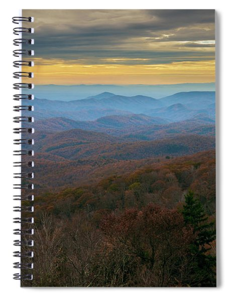 Blue Ridge Parkway - Blue Ridge Mountains - Autumn Spiral Notebook