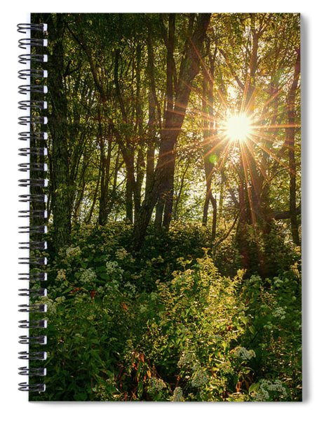 Blue Ridge Parkway - Last Of Summers Light, North Carolina Spiral Notebook