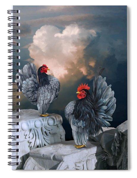 Blue Serama Pair Spiral Notebook