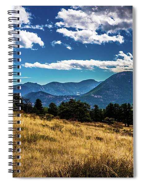 Blue Skies And Mountains Spiral Notebook
