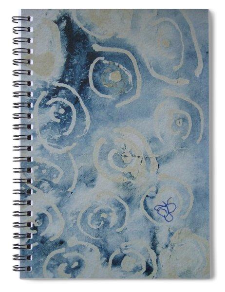 Blue Spirals Spiral Notebook