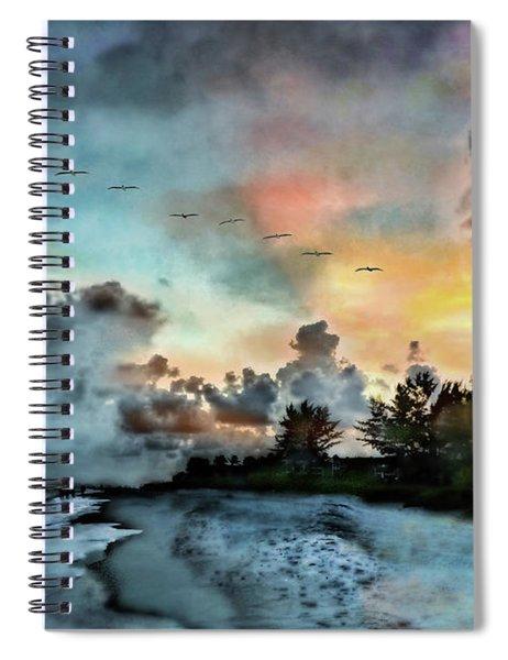 Blue Sunset Over Sanibel Island Spiral Notebook