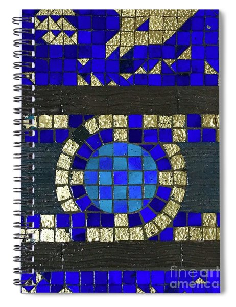 Blue Tile Detail Spiral Notebook