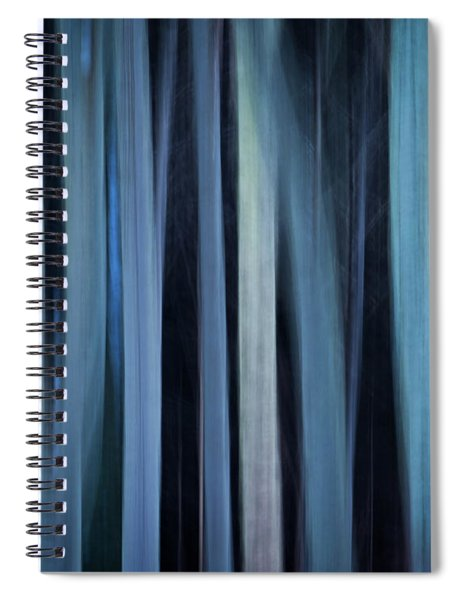 Blue Trees 1 Spiral Notebook
