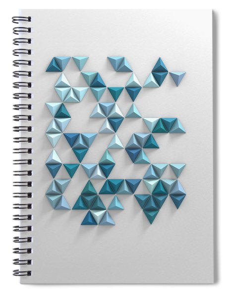 Blue Triangles Spiral Notebook