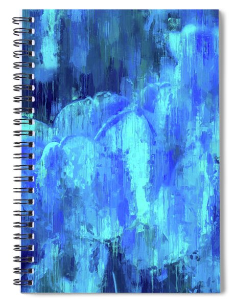 Blue Tulips On A Rainy Day Spiral Notebook