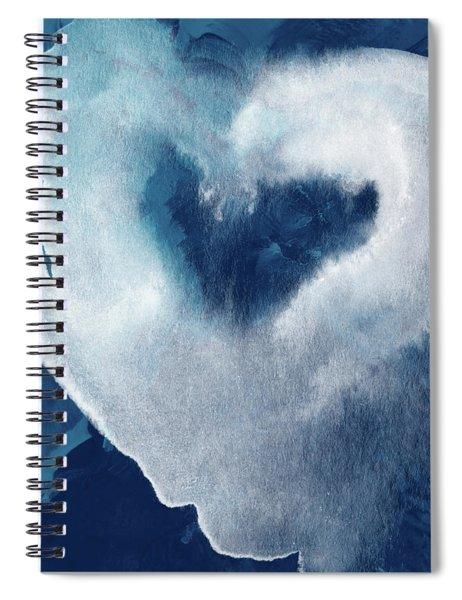Blue Valentine- Art By Linda Woods Spiral Notebook