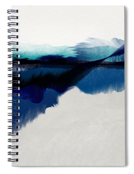 Blue Vista- Art By Linda Woods Spiral Notebook by Linda Woods