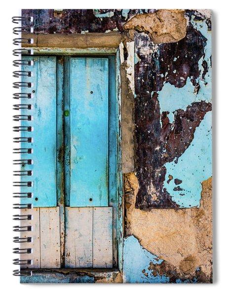 Blue Wall And Door Spiral Notebook