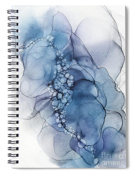 Blue Whispy 2 Abstract Painting Spiral Notebook
