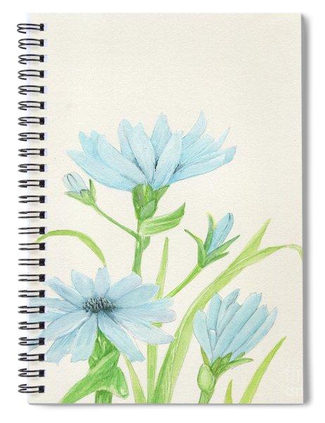 Blue Wildflowers Watercolor Spiral Notebook