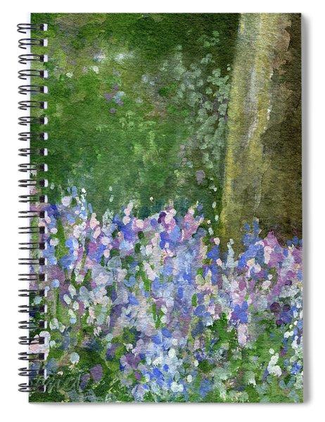 Bluebells Under The Trees Spiral Notebook