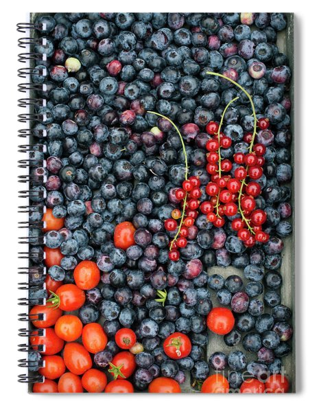 Blueberries Redcurrants And Tomatoes Spiral Notebook