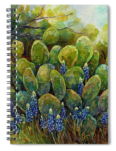 Bluebonnets And Cactus 2 Spiral Notebook