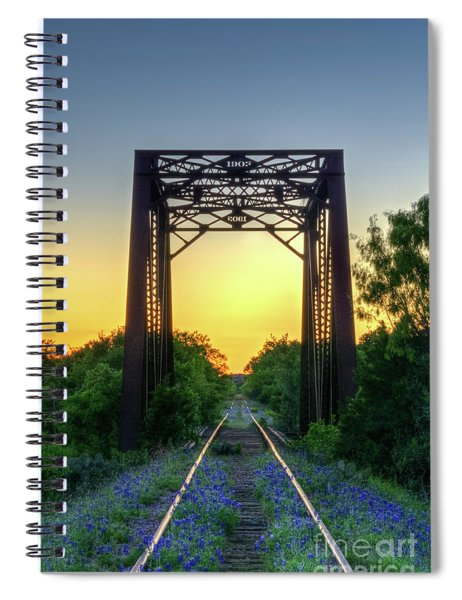 Bluebonnets On The Abandoned Railroad Spiral Notebook