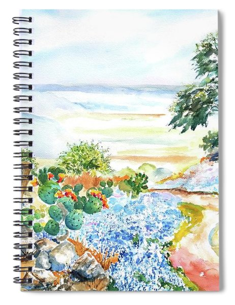 Bluebonnets - Texas Hill Country In Spring Spiral Notebook