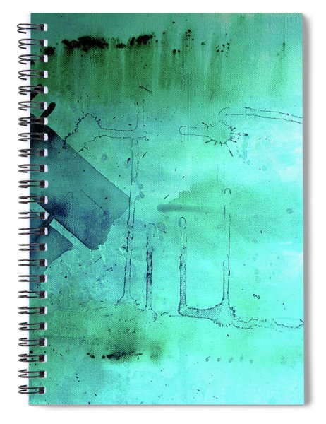 Blues And Twos Spiral Notebook by Valerie Anne Kelly