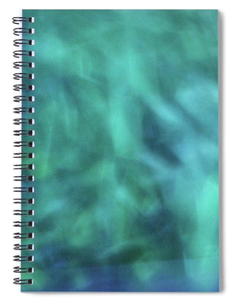 Blurred Water Wave Like Abstract Background With Blues, Turquiose, Green Color Artwork Spiral Notebook