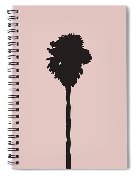 Blush Pink Palm Tree Spiral Notebook