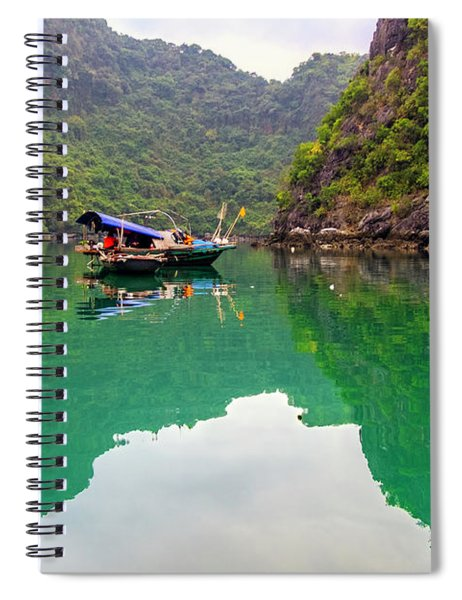Boat On Halong Bay 2, Vietnam Spiral Notebook