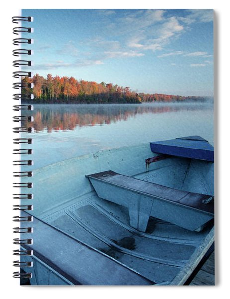 Boat On The Lake Spiral Notebook