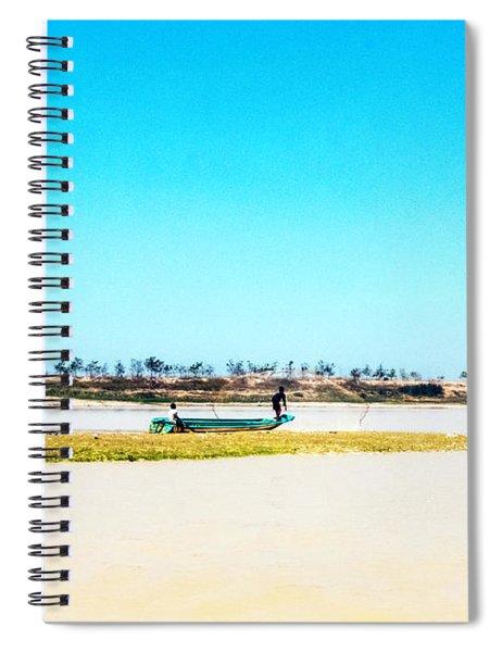 Boat On Tonle Sap Lake - Siem Reap, Cambodia Spiral Notebook