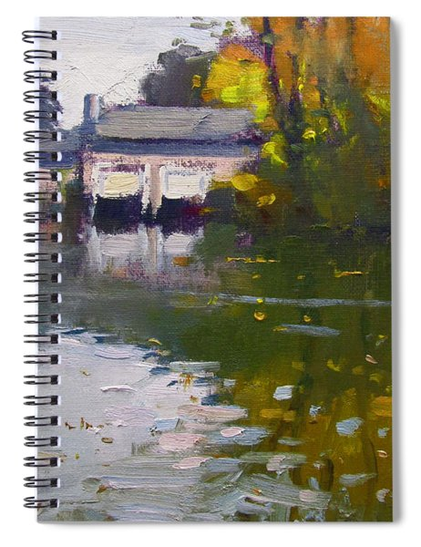 Boathouses In Fall Spiral Notebook