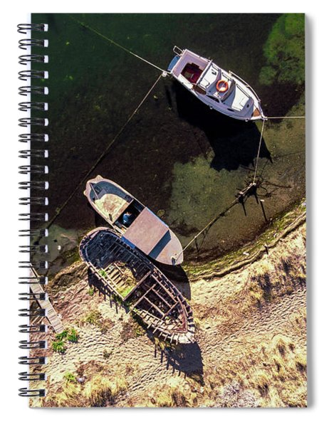 Boats Attached Spiral Notebook
