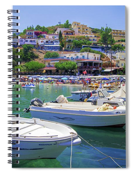 Boats In Bali Spiral Notebook