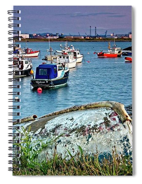 Boats In Harbour, South Gare Spiral Notebook