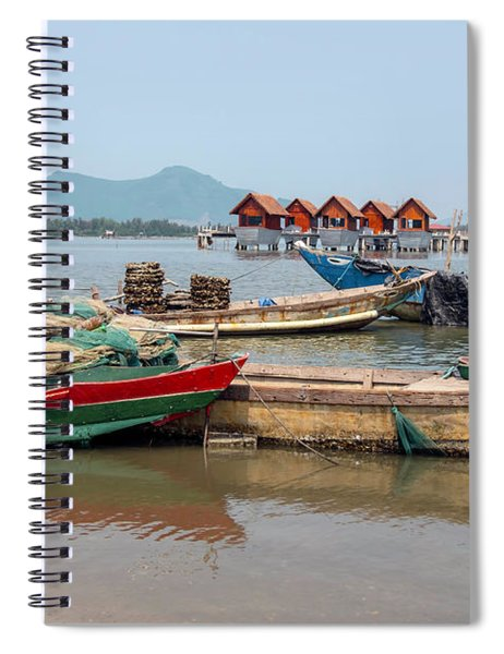 Boats In Lang Co - Hue, Vietnam Spiral Notebook