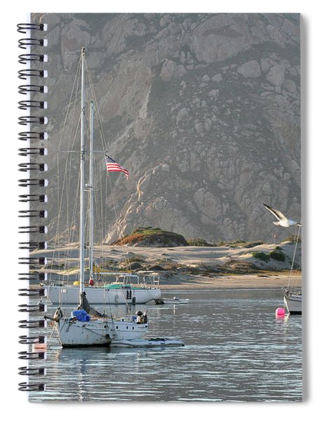 Boats In Morro Bay Spiral Notebook