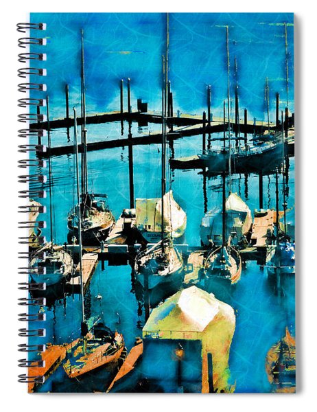 Boats In The Harbor Spiral Notebook