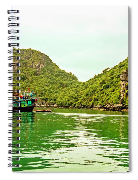 Boats On Halong Bay, Vietnam Spiral Notebook