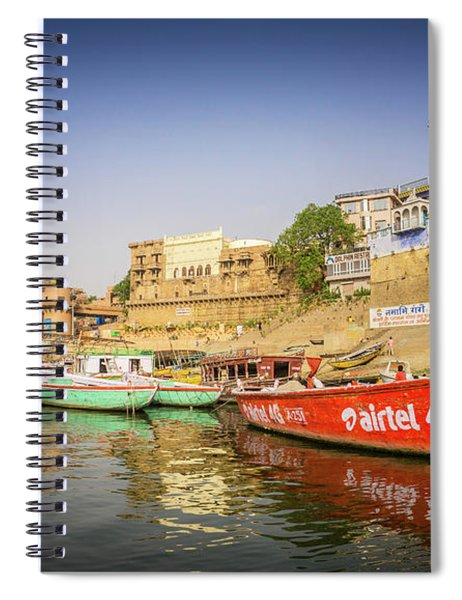 Boats On The Ganges Spiral Notebook