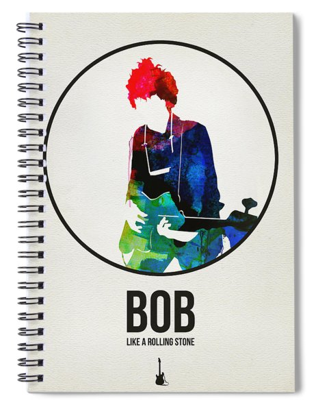 Bob Dylan Watercolor Spiral Notebook