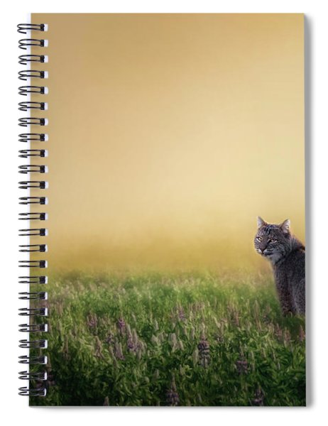 Bobcat Eyes Spiral Notebook
