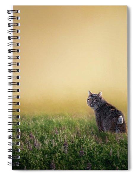 Bobcat Eyes Square Spiral Notebook