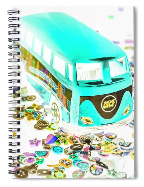 Boho Blue Spiral Notebook